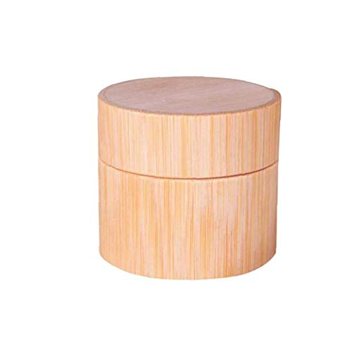 Creative main en bambou Jars Crème Visage Porte-Container Pot Portable Fioles Rechargeables Baume à lèvres Lotion Huiles Essentielles outil de beauté Stockage Diy 2Réglez