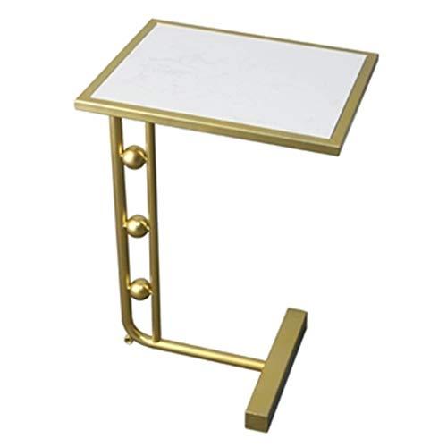 Tables basses Table D'appoint Salon Canapé Table D'appoint Coin Table en Marbre Petite Table Carrée Mobile Cadeau (Color : Blanc, Size : 30 * 38 * 60cm)