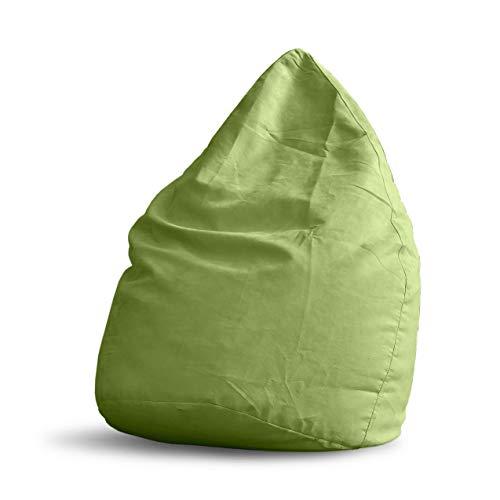 Lumaland Luxury XL Sitzsack stylischer Beanbag 120L Füllung verschiedene Farben Grün - Für alle Altersklassen