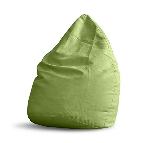 Lumaland Luxury XL PLUS Sitzsack stylischer Beanbag 220L Füllung mit extra starken Nähten Grün
