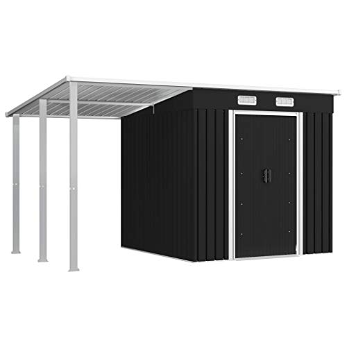 Kshzmoto Gerätehaus mit Vordach Metall...