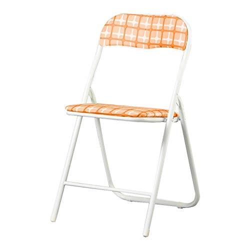 Chaise Pliante, Acier au Carbone, Chaise de Dossier Loisirs siège de la Maison à Manger Chaise, Bureau, Jardin, Grille Verte 44 * 47 * 79cm