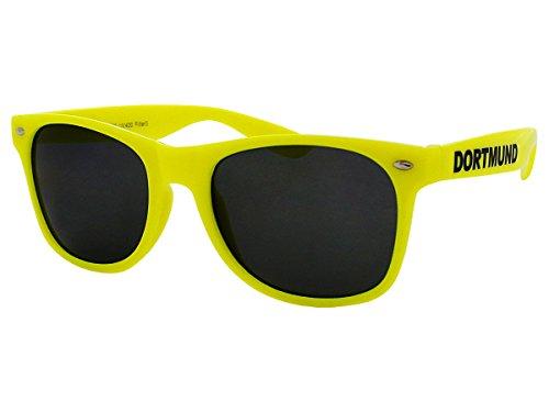 Alsino Dortmund Sonnenbrille Brille Nerdbrille Städtebrille Funbrille Fanbrille, wählen:V-1052 gelb
