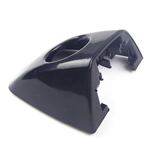 Maniglia per Porta Esterna Auto Manico Nero Car Exterior Front sportello Sinistro del Foro Chiave della Cornice di Copertura cap/Misura for Audi A6 A7 A8 RS6 RS7 2014 2015 2016 (Color : Black)