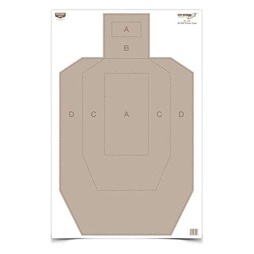 Birchwood Casey Eze-Scorer IPSC Practice Target (Per 5), 23 x 35-Inch