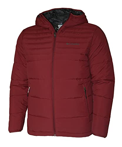 Columbia Alpine Tunnel 650 TurboDown Hooded Men's Jacket Omni Heat (Red Jasper, l)