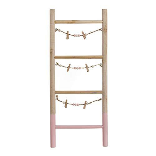 Vidal Regalos Escalera Decorativa Portafotos Rosa 25x60 cm