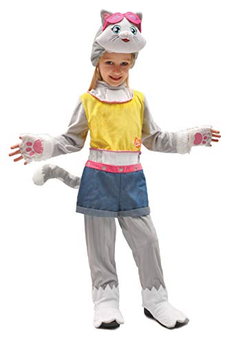 Ciao-Milady gattina 44 Gatti costume bambina, 3-4 anni, Grigio, Rosa, 11239.3-4