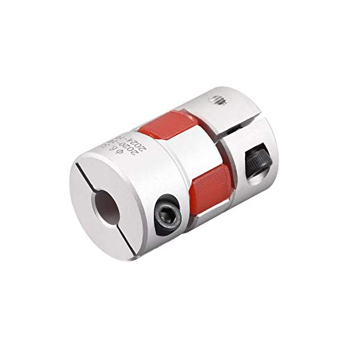 uxcell 6.35mm to 7mm Bore L31xD20 Flexible Coupling Jaw Coupler Shaft Joint for Servo Motor