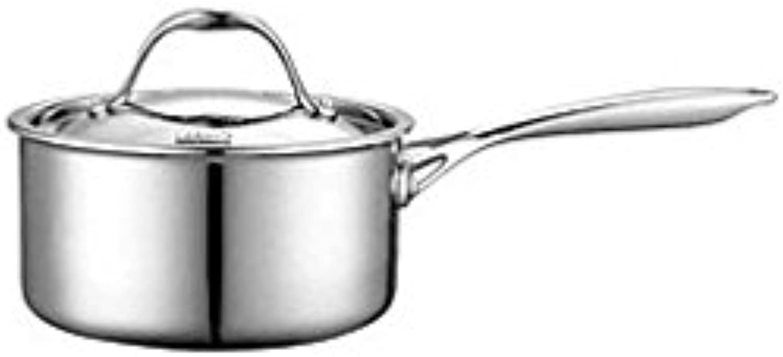 costo real Neway NC00217 de m-ltiples capas con revestimiento revestimiento revestimiento de acero inoxidable de 1.5-Quart Coverojo Pan Salsa  Más asequible