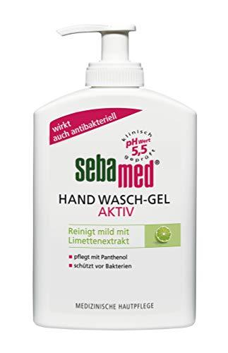 Sebamed Hand Wasch-Gel Aktiv im hygienischen Spender Vorteilspack 6 x 300ml, schützt vor Bakterien
