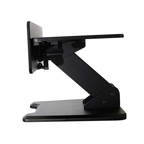 KPOON Stehpult Converter Büroarbeitsstation Stehen Computer-Hubtisch Auf Schreibtisch, faltbar Fahrbare Werkbank Laptop Riser (Color : Black, Size : 75.5 X 75.5 X21.0 cm)