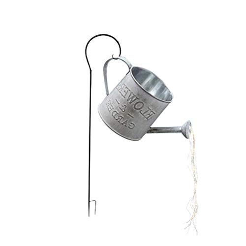 Hidyliu Garden Watering Can Lights Outdoor LED Fairy String Light Star Shower Lamp Battery Operated for Home Yard Christmas Decor Art Light with Bracket