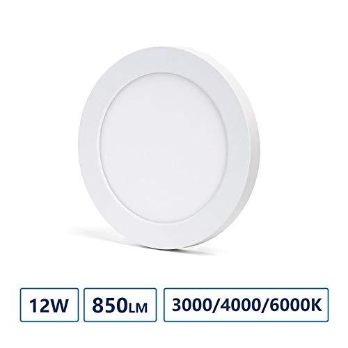 Aigostar - LED E6 ABWÄRTSLEUCHTE 12W einstellbare Größe und Farbtemperatur(CUTOUT:55-125mm)