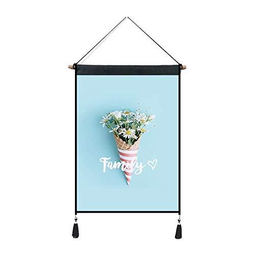 mmzki Frische Dekoration Stoff hängen Blumen grünes Blatt Druck Hintergrund wandbehang Tuch Q 45 * 65 cm