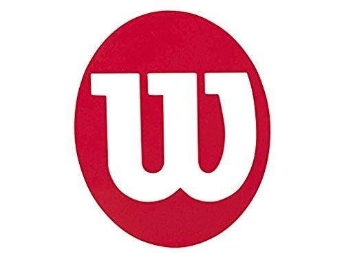Wilson Stencil con Logo per Racchette da Tennis Unisex – Adulto, Rosso, Taglia Unica