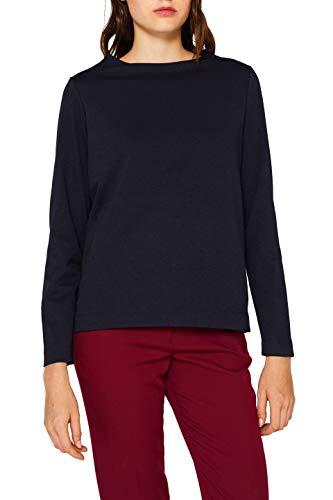 ESPRIT Damen 999Ee1F811S Bluse, Blau (Navy 400), Herstellergröße: 42