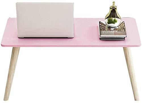 Coffee Table Muebles de sala de estar Mesa de ordenador Mesita de noche Dormitorio portátil estudiante estudio de madera maciza Escritorio Mini (color: D, tamaño: 40 cm)