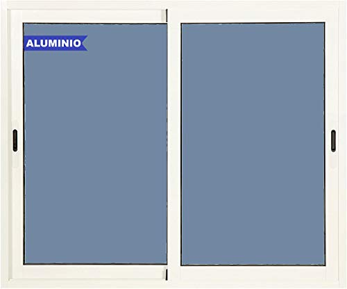 Ventana Aluminio Corredera 1000 ancho x 1200 alto 2 hojas