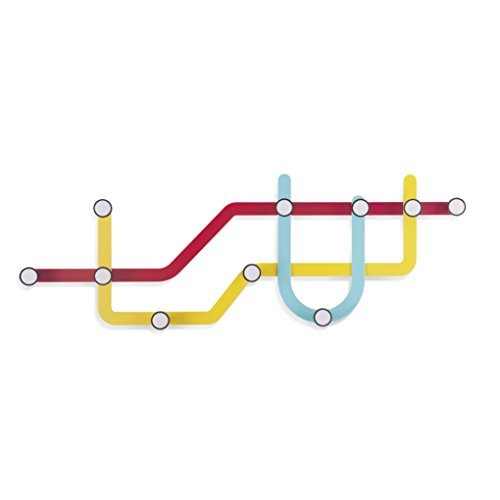 Umbra Subway Percha de Pared Multicolor