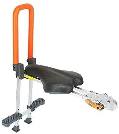 X&Y Asiento de Bicicleta eléctrica Infantil, Asiento de Bicicleta para niños de Montaje Frontal, pasamanos eléctricos portadores de Bicicleta para niños de 3 a 7 años (Color : Orange)
