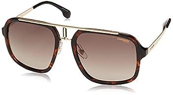 Carrera 1004/S Rectangular Sunglasses Havana Gold/Brown Gradient 57mm 20mm