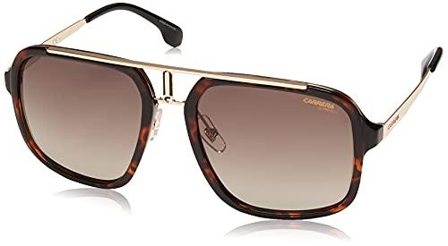 Carrera 1004/S Rectangular Sunglasses, Havana Gold/Brown Gradient, 57mm, 20mm