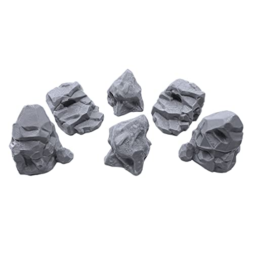 Stone Boulder Bundle, Terrain Scenery for Tabletop 28mm Miniatures Wargame, 3D Printed and Paintable, EnderToys