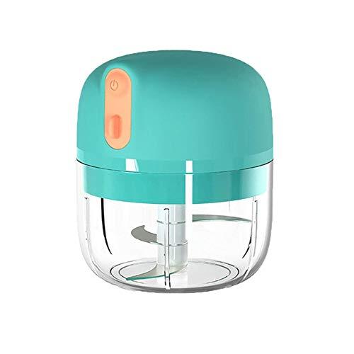 cottonlilac Machine électrique portative de purée d'ail Mini Hachoir à l'ail USB de Charge pour Les légumes à l'ail Fruits écrou Petit Robot culinaire-Bleu