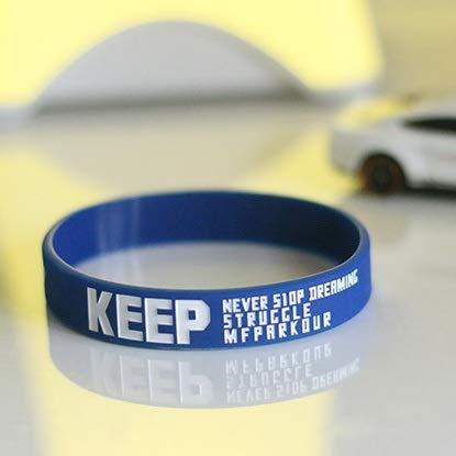 ZJZ Creative-Silikon-Armband Silikon Armband Parkour Basketball Flut Skateboard Kleines Fitness-Armband (Color : Blue)