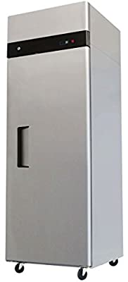 """29"""" Upright Stainless Steel 1 Door Commercial Freezer, 22.6 Cubic Feet, MBF-8001, for Restaurant"""
