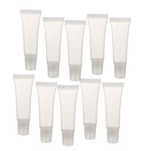 JBNS 8g Lip Gloss Tubes Mini Klar Leeren Lip Gloss Balm Container Weiche Schläuche Makeup Box Für Frauen Mädchen 36 Pcs