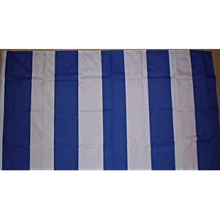 Hartlepool United Blue and White Striped 3'x2' Flag