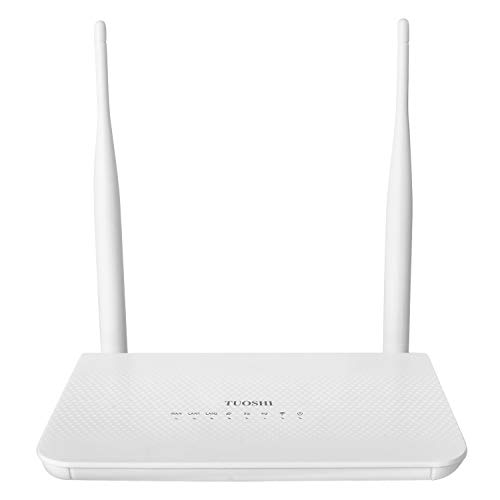 TUOSHI Unlocked 4G LTE Router with SIM Card Slot -Wireless WiFi Hotspot, Support T-Mobile ATT(2 Antenna & WLAN Port)