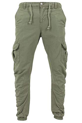 Joggingbroek voor heren - Joggingbroek voor heren Geribbelde broek met trekkoord Streetwear-stijl cargobroek
