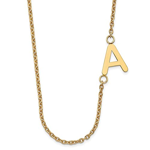 Jewelry-Sterling Silver/Gold-plated Small Offset Initial Necklace