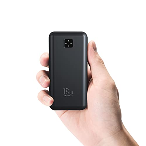 Powerbank 10000mAh, ElephantStory Power Bank Delivery 18W Quick Charge 3.0 Mini Externer Akku USB C mit Type C Kabel für Phone11 Pro/11/Xs Max, Samsung S10/Note10, iPad, Tablets usw