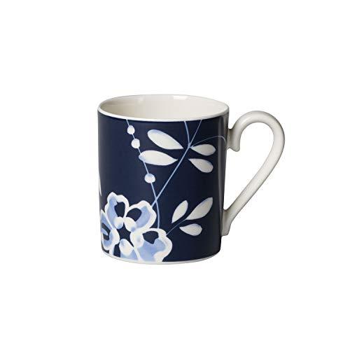 Villeroy und Boch Vieux Luxembourg Brindille Kaffeebecher, 250 ml, Premium Porzellan, Blau