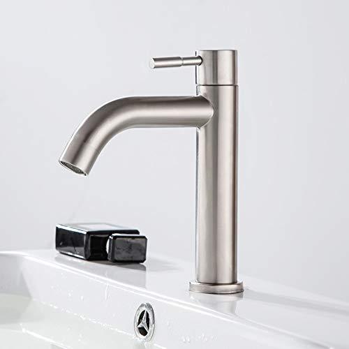 táctil Grifo de lavabo táctil SDSN SUS304 Sensor de grifo de lavabo de baño frío individual de acero inoxidable Grifo de lavabo negro Grifos de control