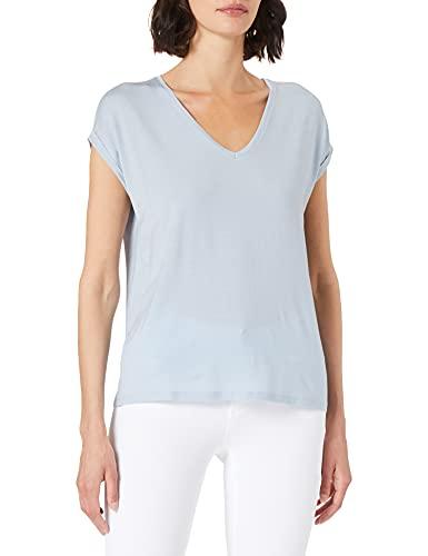 Vero Moda VMAVA SS V-Neck tee VMA Noos Camiseta, Espuma Azul, XL para Mujer