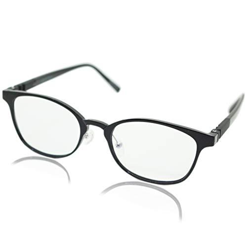 (エイトトウキョウ)eight tokyo 老眼鏡 ブルーライトカット おしゃれ メンズ レディース 兼用 軽量 かわいい かっこいい 1.0 UVカット シニアグラス リーディンググラス[ 鯖江メーカー企画 ]ブラック/クリア RDCL8-3-BK+1.