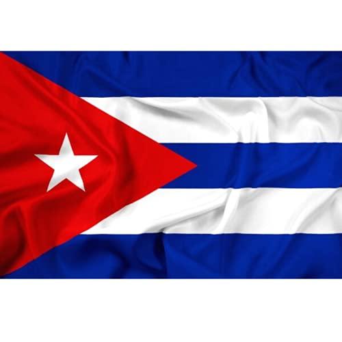 YENLY Bandera Cuba Lona y Doble Costura Cuban Flag Bandera Cubana Grande Telas de Banderas 90 x 150 cm
