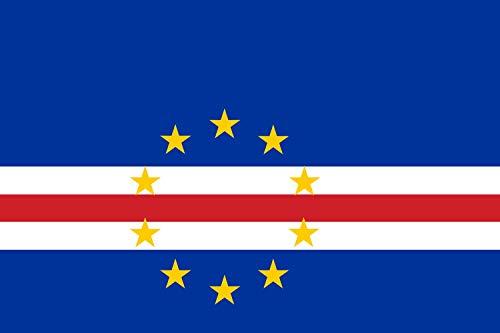 DIPLOMAT Flagge Kap Verde | Querformat Fahne | 0.06m² | 20x30cm für Flags Autofahnen