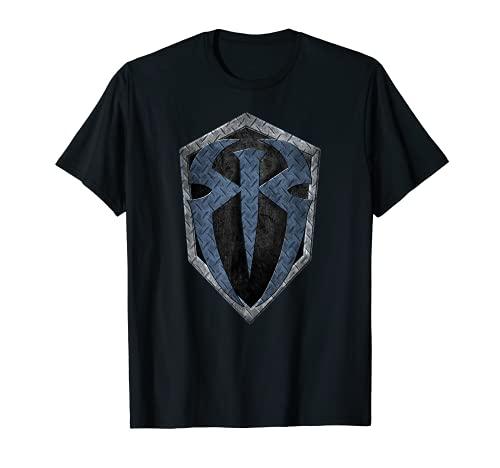 US WWE Roman Reigns + Logo Metall 01 schwarz T-Shirt