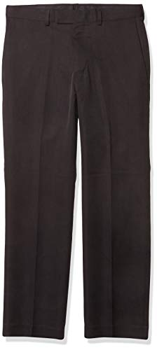 Axist Men's Flat Front Straight Fit Dress Pant, Charcoal, 30x30