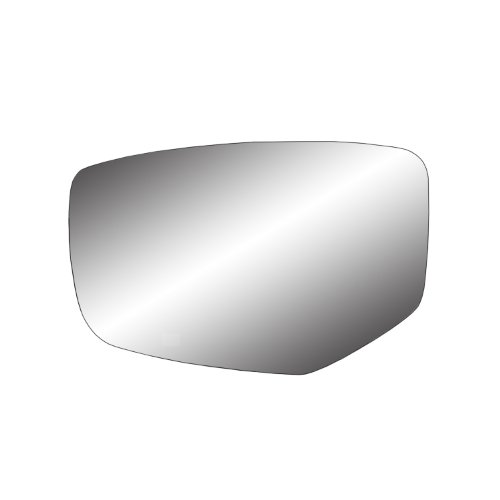 Fit System 88272 Driver Side Non-Heated Mirror Glass w/Backing Plate, Honda Accord Coupe, Accord Sedan, 4 3/4' x 7 5/8' x 7 1/2' (w/o Turn Signal, w/o Camera)