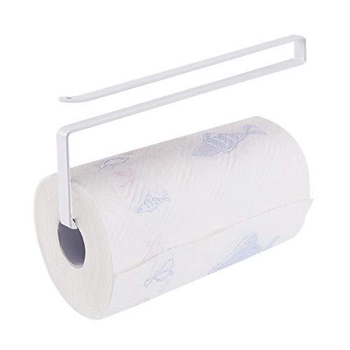 Usmascot - Rollenhalter, Papier Handtuchhalter, Unterschrank Papierrollenhalter (KEIN Bohren) Für Küche, Bad - Hängen Papierhandtuchhalter Kleiderbügel Über Der Tür (Weiß)