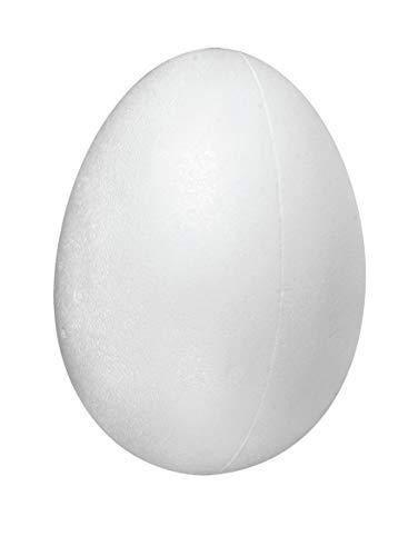 Rayher 3301200 Styropor-Eier, voll, Höhe 6 cm