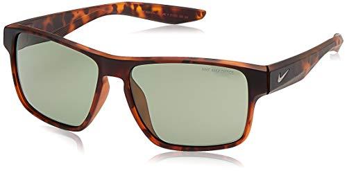 Nike EV1001-200 Essential Venture R Sunglasses (Frame Green with Gunmetal Flash Lens), Matte Tortoise