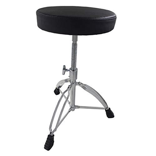 WEIYV- Drum Throne, Sgabello del Tamburo Drum Drum Stool Spiral Sollevamento Drum Chair Solid Vite Drum Seat Sgabello Jazz Drum (Color : Black, Size : 44-60.5cm)